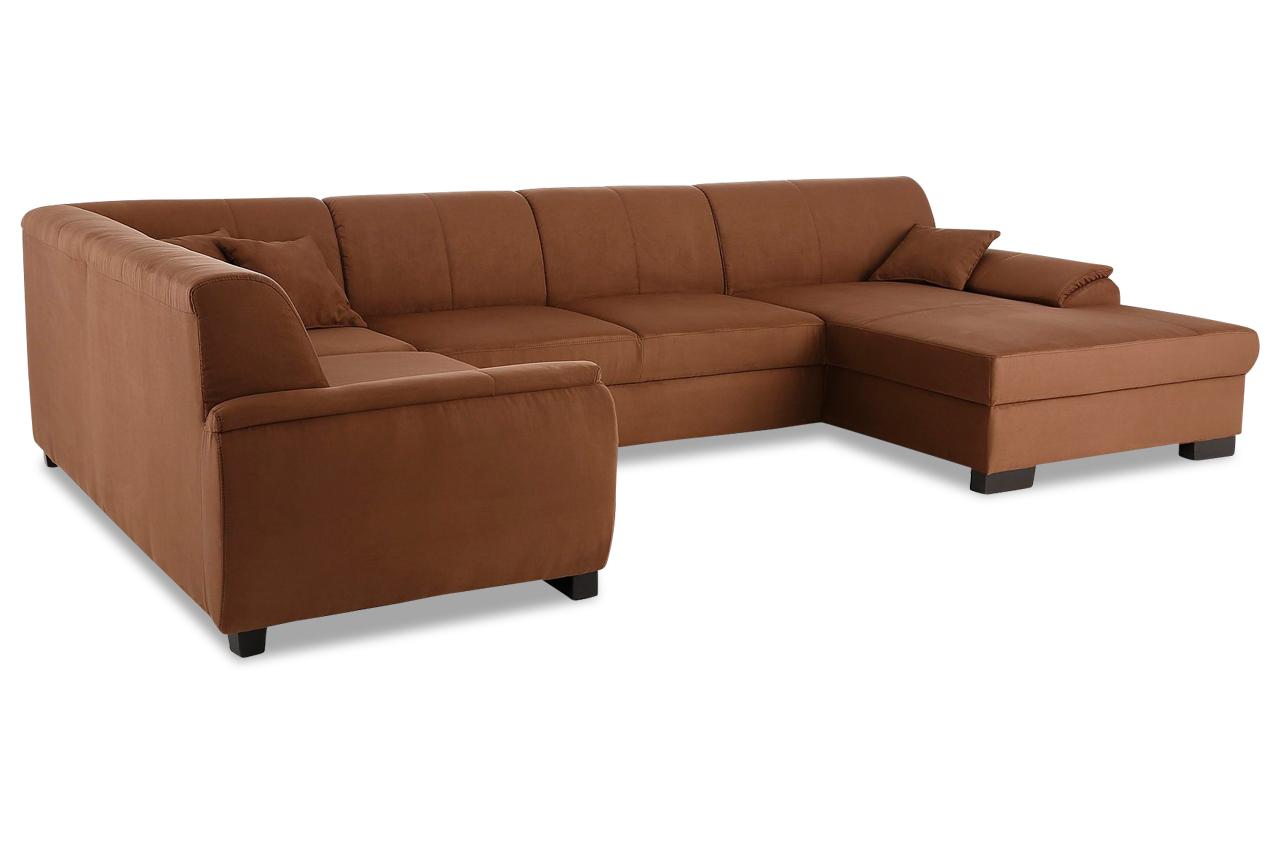 Wohnlandschaft loft braun mit boxspring sofa couch for Wohnlandschaft boxspring