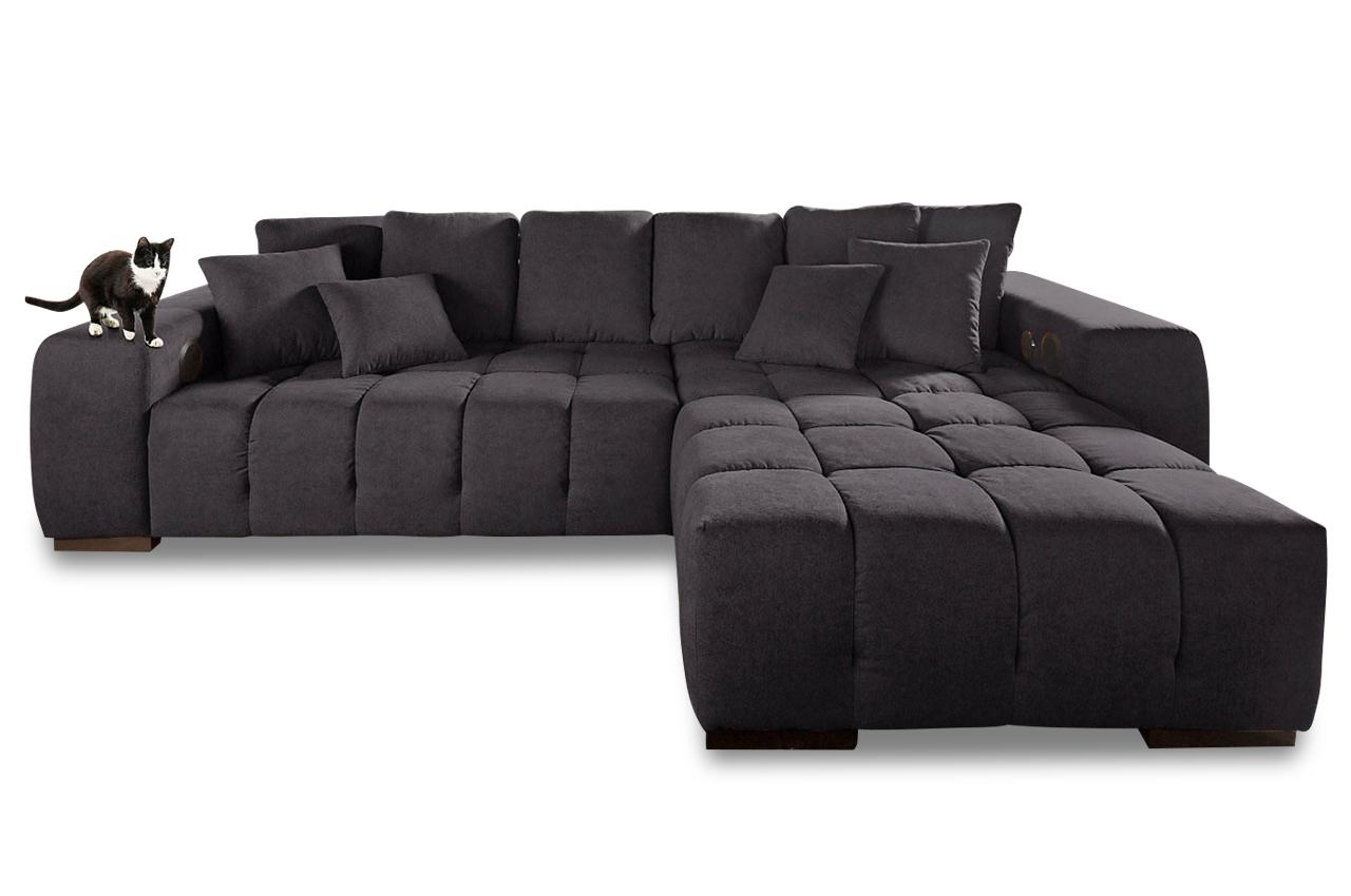 sofa couch ecksofa megaecke touchdown luxus microfaser rock ebay. Black Bedroom Furniture Sets. Home Design Ideas