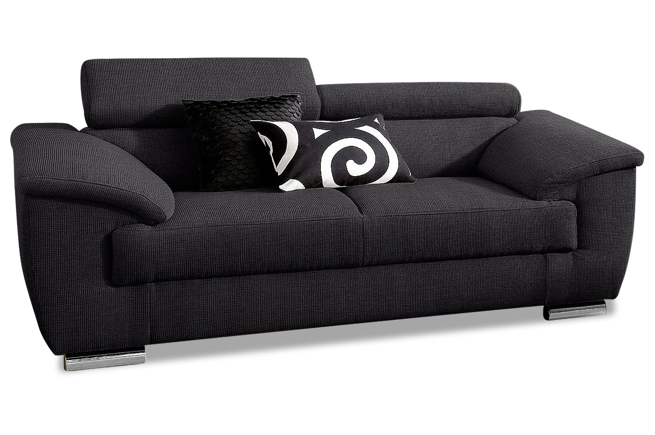 2er sofa david schwarz sofas zum halben preis. Black Bedroom Furniture Sets. Home Design Ideas