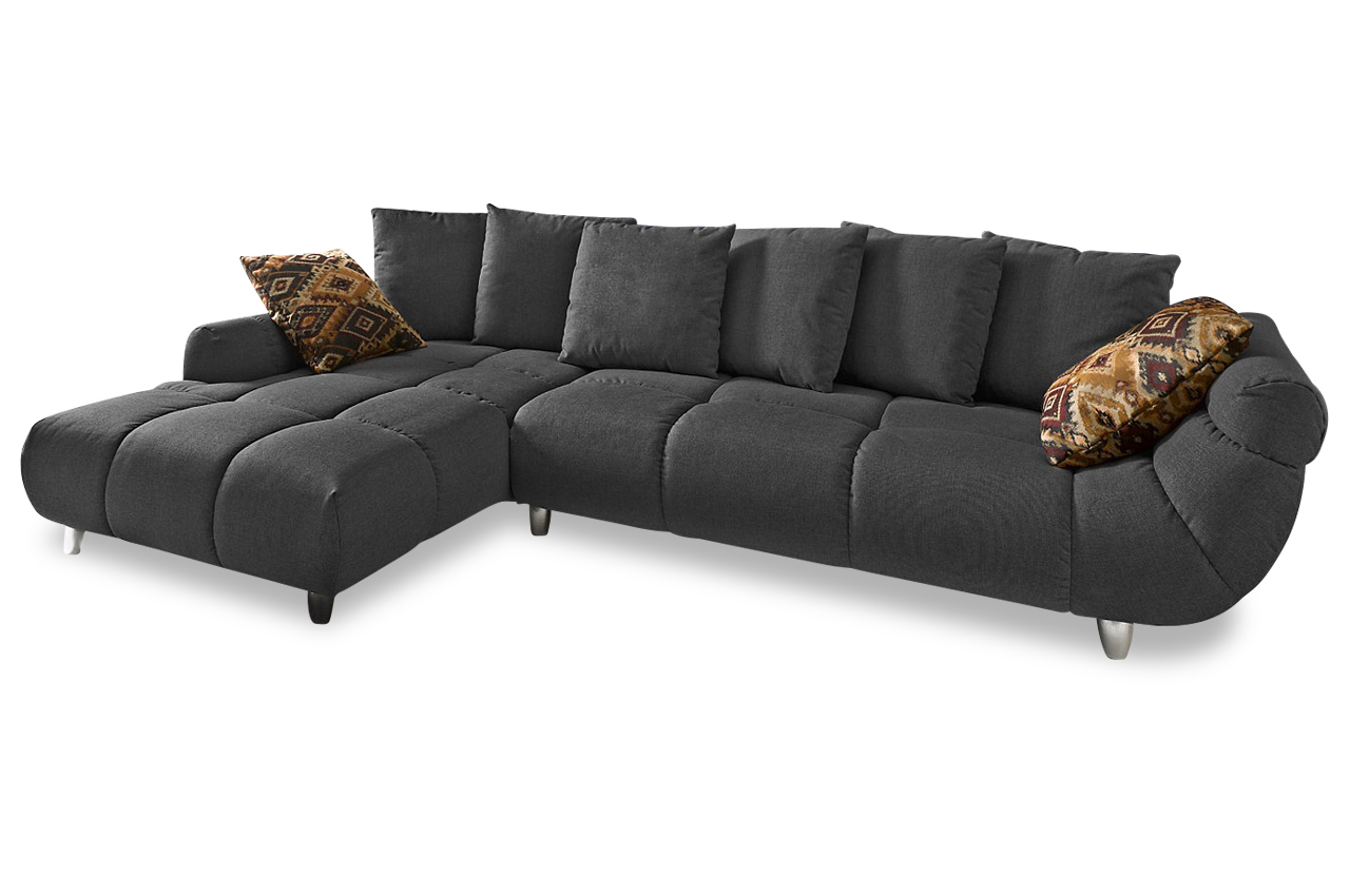 ecksofa imola anthrazit mit federkern sofa couch. Black Bedroom Furniture Sets. Home Design Ideas