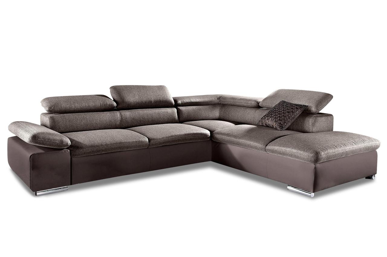 Ecksofa xl mit schlaffunktion braun sofas zum halben for Ecksofa braun mit schlaffunktion