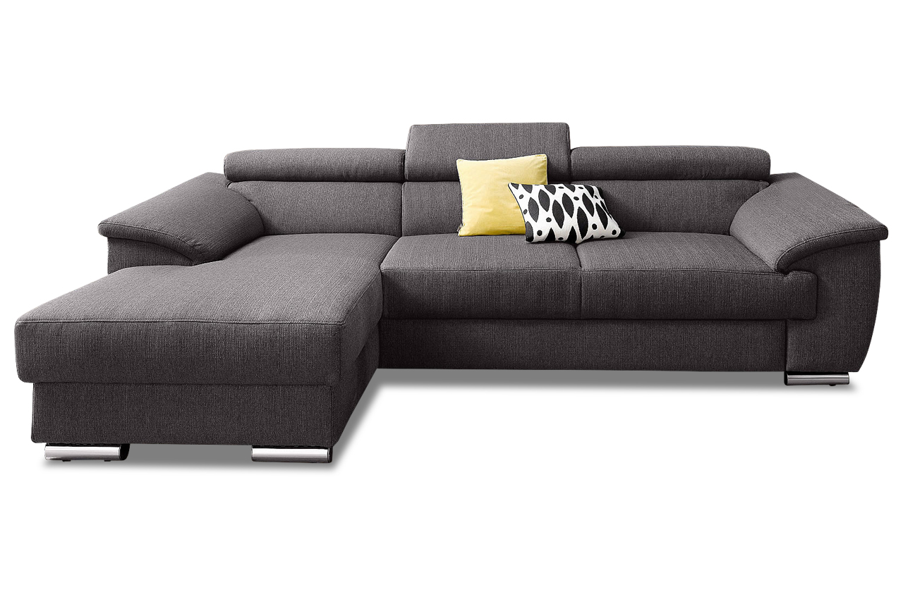 Sofa couch ecksofa polsterecke david mit bett webstoff for Couch im raum