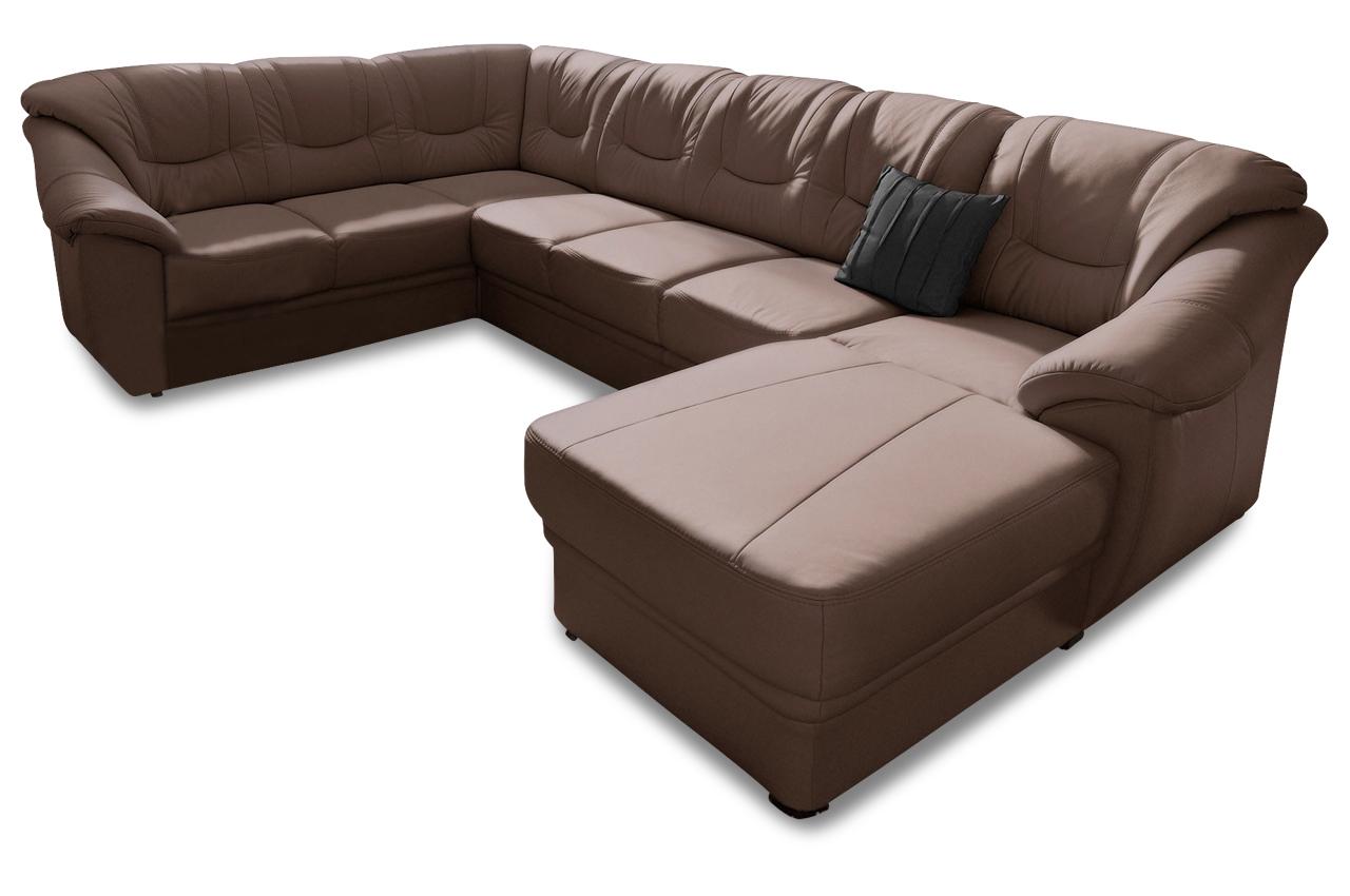 wohnlandschaft savona braun mit federkern sofas zum halben preis. Black Bedroom Furniture Sets. Home Design Ideas