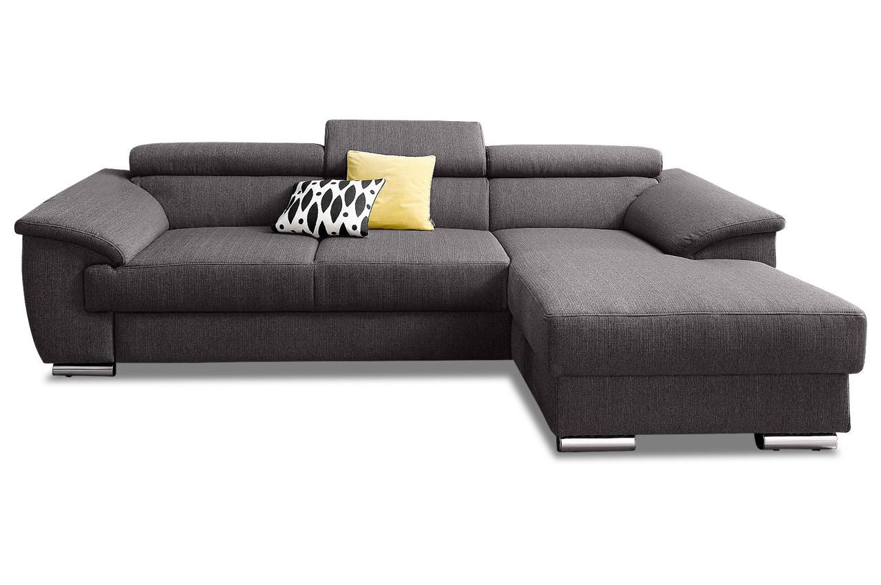 polsterecke david mit bett stoff sofa couch ecksofa ebay. Black Bedroom Furniture Sets. Home Design Ideas