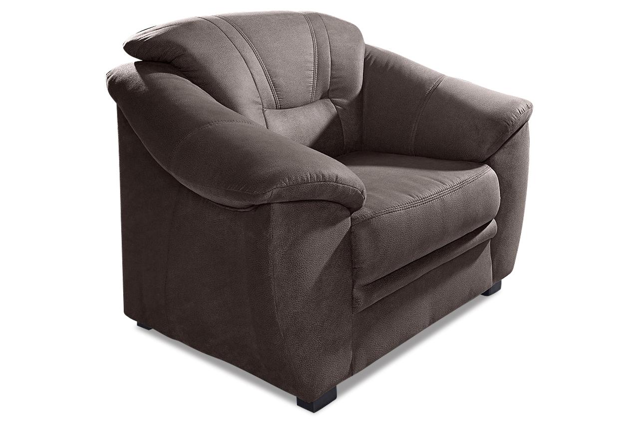 sessel savona braun mit federkern sofas zum halben preis. Black Bedroom Furniture Sets. Home Design Ideas