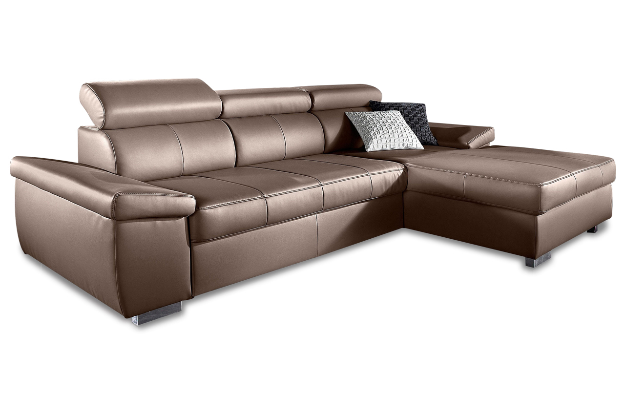 Ecksofa catwalk braun sofas zum halben preis for Ecksofa braun