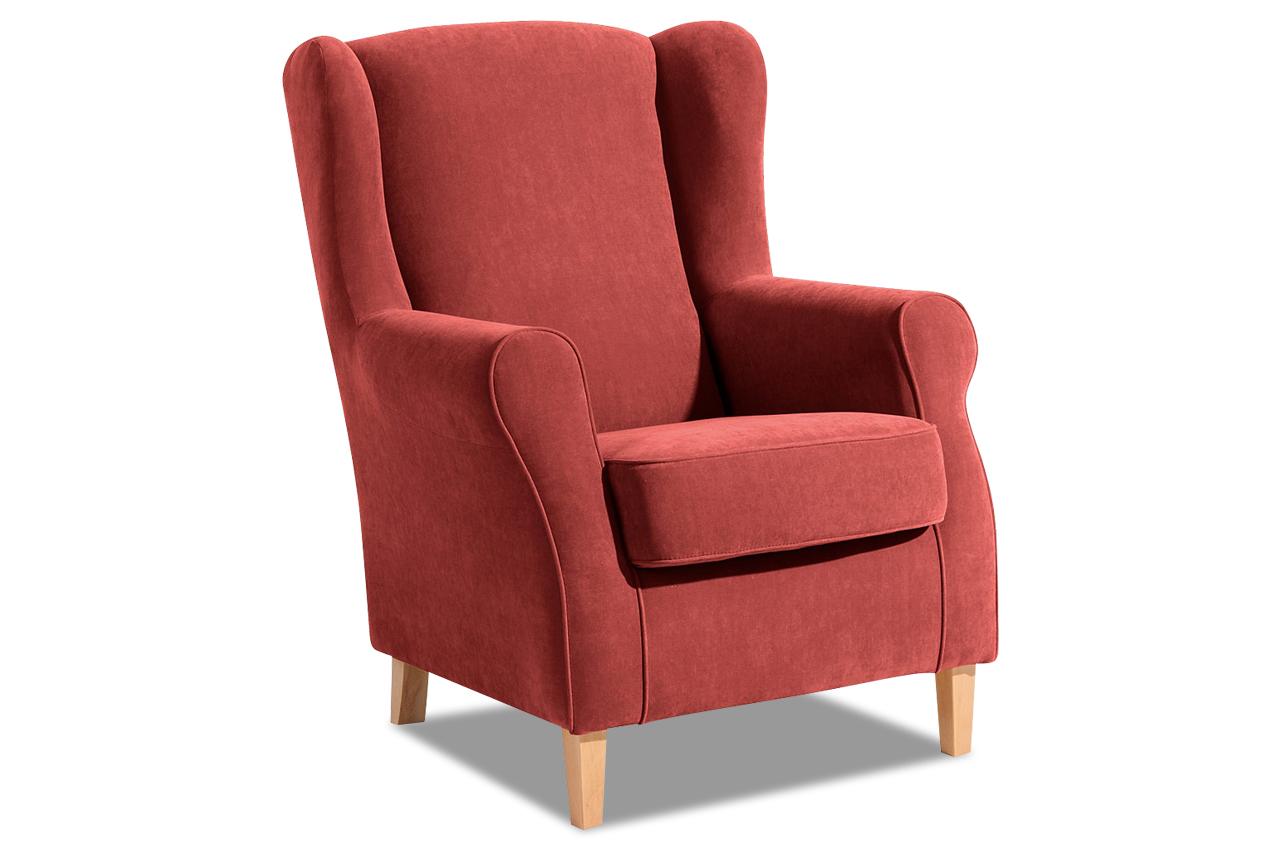 max winzer ohrenbackensessel luke rot mit federkern sofas zum halben preis. Black Bedroom Furniture Sets. Home Design Ideas