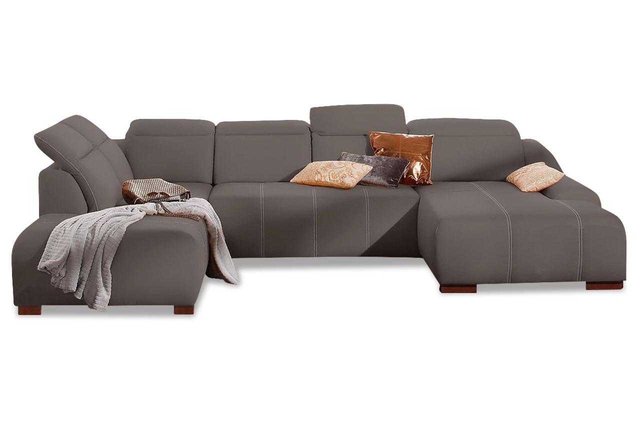 wohnlandschaft mit schlaffunktion grau mit federkern sofas zum halben preis. Black Bedroom Furniture Sets. Home Design Ideas