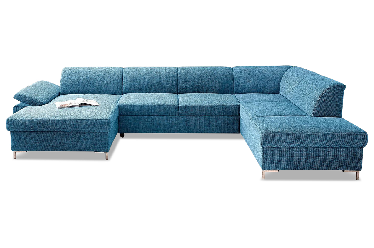 Wohnlandschaft santana blau sofas zum halben preis for Wohnlandschaft blau