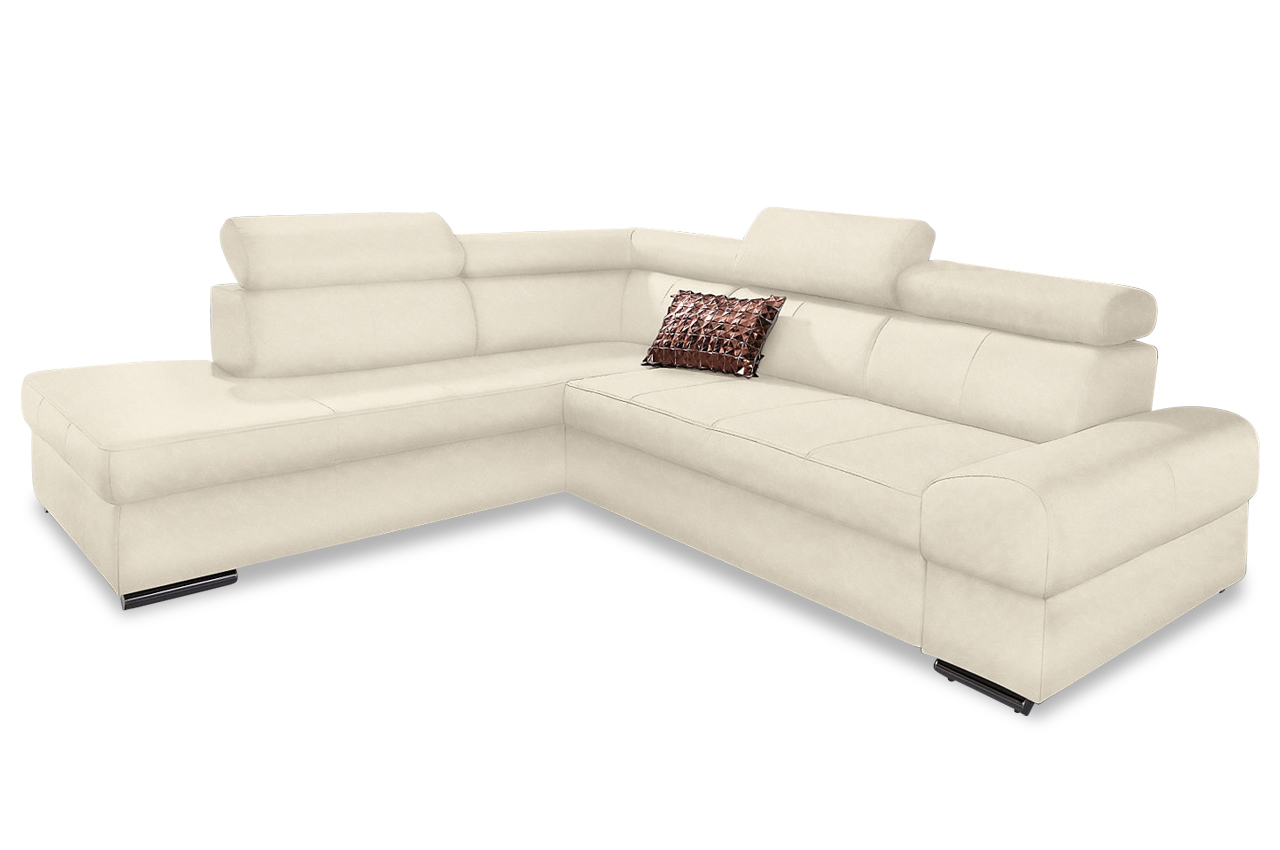 Sit more megaecke broadway mit bett microfaser sofa for Sofa bett kombination