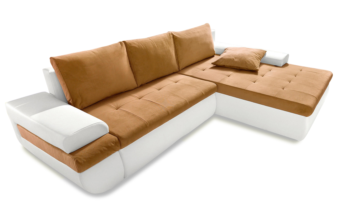 ecksofa caramba xl orange sofa couch ecksofa ebay. Black Bedroom Furniture Sets. Home Design Ideas