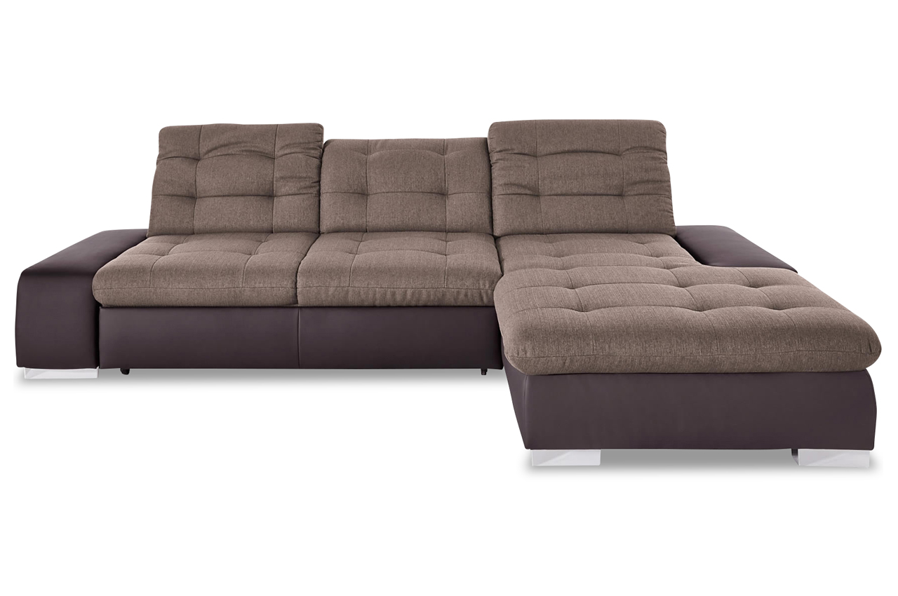 ecksofa palomino xxl mit schlaffunktion braun sofa couch ecksofa ebay. Black Bedroom Furniture Sets. Home Design Ideas