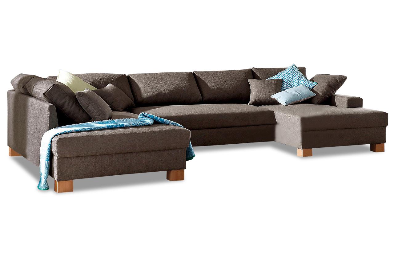 wohnlandschaft norden braun mit federkern sofas zum halben preis. Black Bedroom Furniture Sets. Home Design Ideas