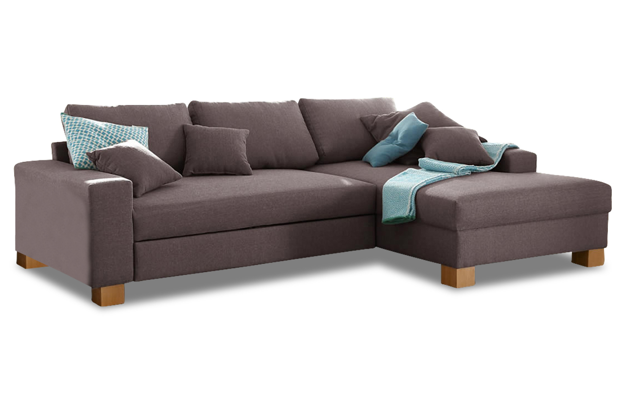 Polsterecke norden mit bett sofa couch ecksofa ebay for Sofa bett kombination
