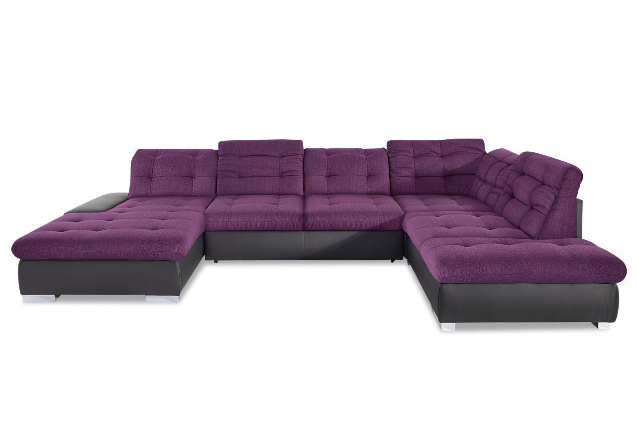 wohnlandschaft palomino xxl mit schlaffunktion violette sofas zum halben preis. Black Bedroom Furniture Sets. Home Design Ideas