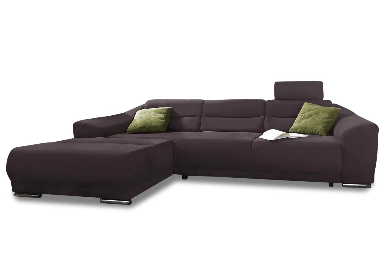 Ecksofa sonya braun sofas zum halben preis for Ecksofa braun mit schlaffunktion