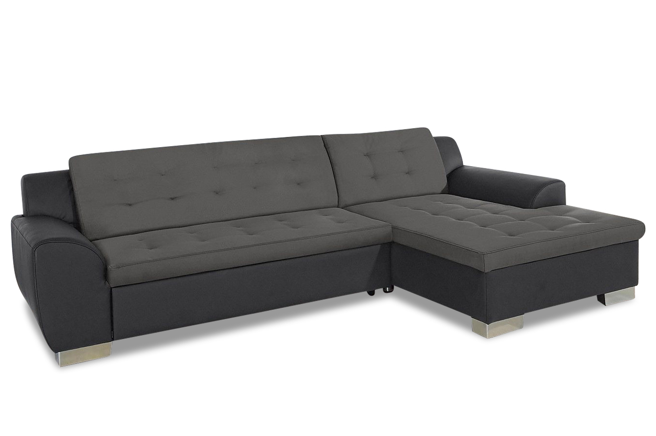 ecksofa rufino mit schlaffunktion grau sofas zum. Black Bedroom Furniture Sets. Home Design Ideas