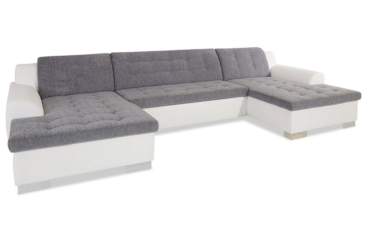 wohnlandschaft rufino mit schlaffunktion grau sofas zum halben preis. Black Bedroom Furniture Sets. Home Design Ideas