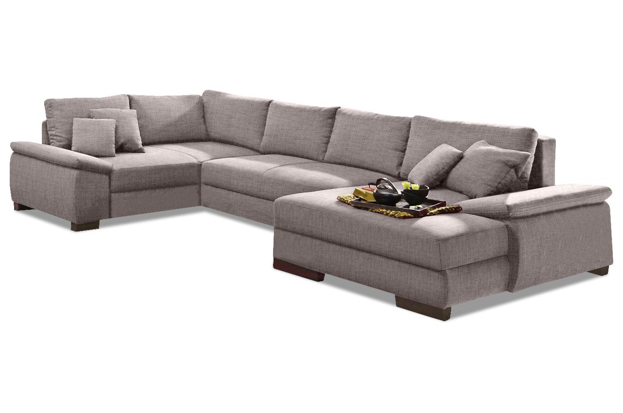 nova via wohnlandschaft trinidad mit schlaffunktion grau mit boxspring sofas zum halben preis. Black Bedroom Furniture Sets. Home Design Ideas