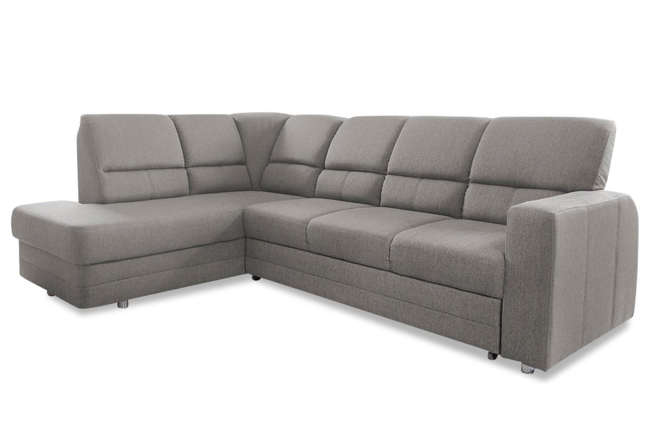 ecksofa xl saba mit relax und schlaffunktion grau mit federkern sofas zum halben preis. Black Bedroom Furniture Sets. Home Design Ideas