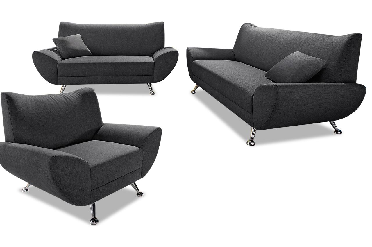 garnitur 3 2 1 saltare anthrazit sofas zum halben preis. Black Bedroom Furniture Sets. Home Design Ideas
