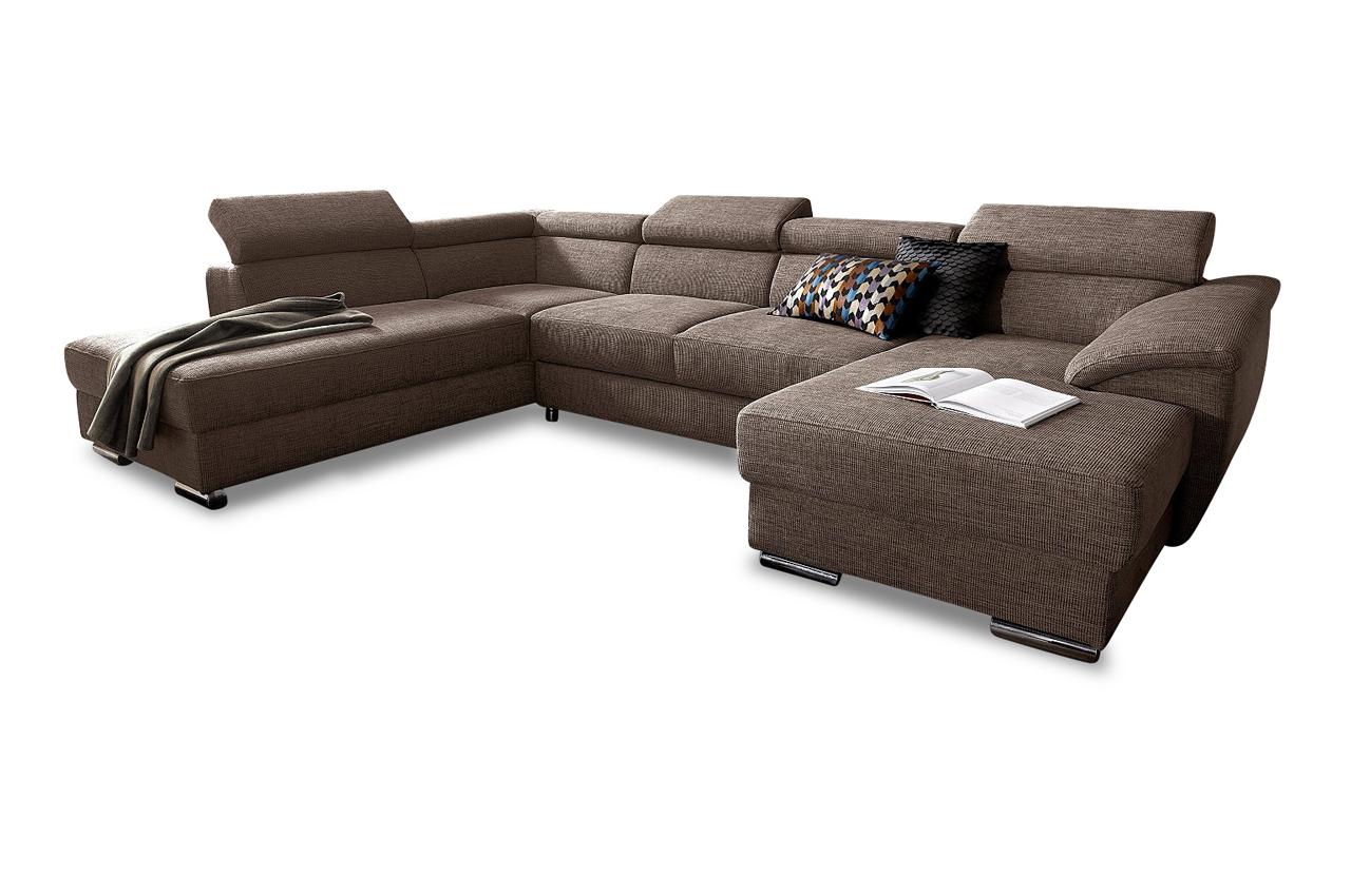 wohnlandschaft david mit bett sofas zum halben preis. Black Bedroom Furniture Sets. Home Design Ideas
