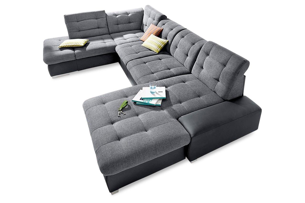 wohnlandschaft palomino xxl mit schlaffunktion anthrazit sofas zum halben preis. Black Bedroom Furniture Sets. Home Design Ideas