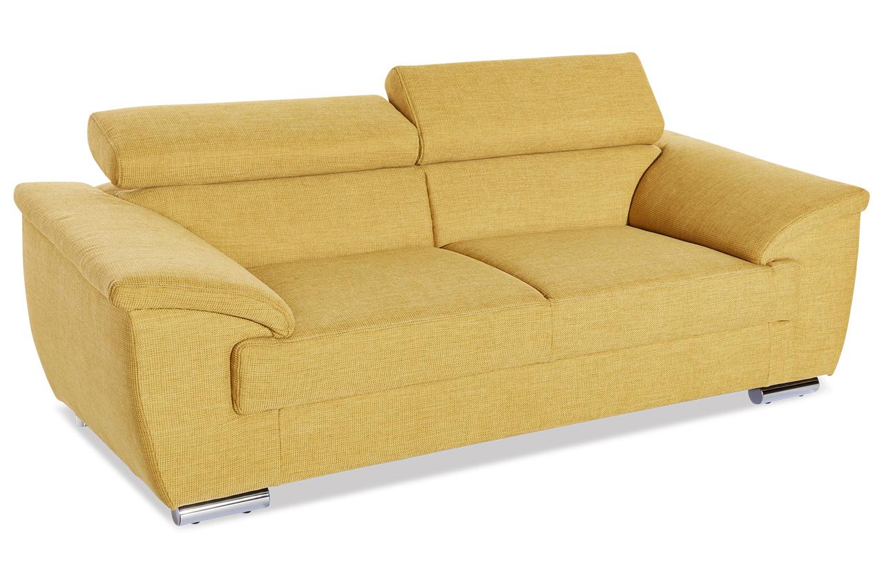 3er sofa david gelb sofas zum halben preis. Black Bedroom Furniture Sets. Home Design Ideas