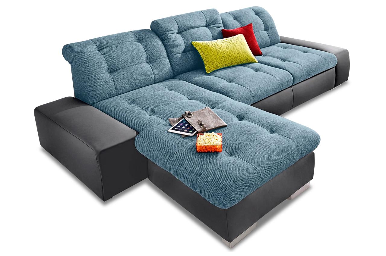 Ecksofa palomino xxl mit schlaffunktion blau sofas for Xxl sessel blau
