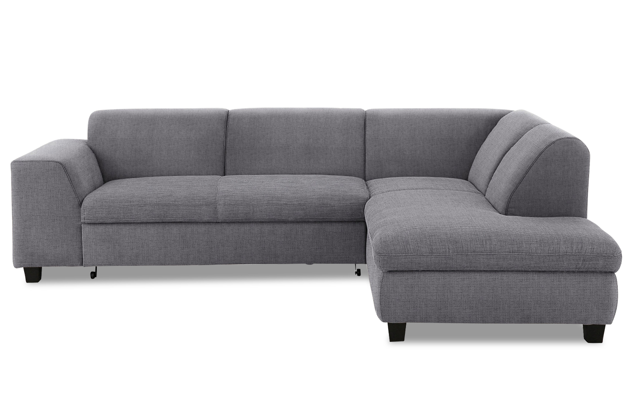 ecksofa xl aparo mit schlaffunktion grau mit federkern sofas zum halben preis. Black Bedroom Furniture Sets. Home Design Ideas