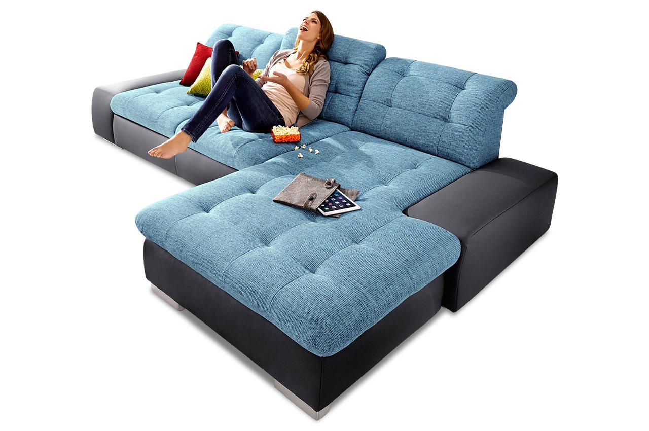 Ecksofa palomino xxl blau sofas zum halben preis for Xxl sessel blau