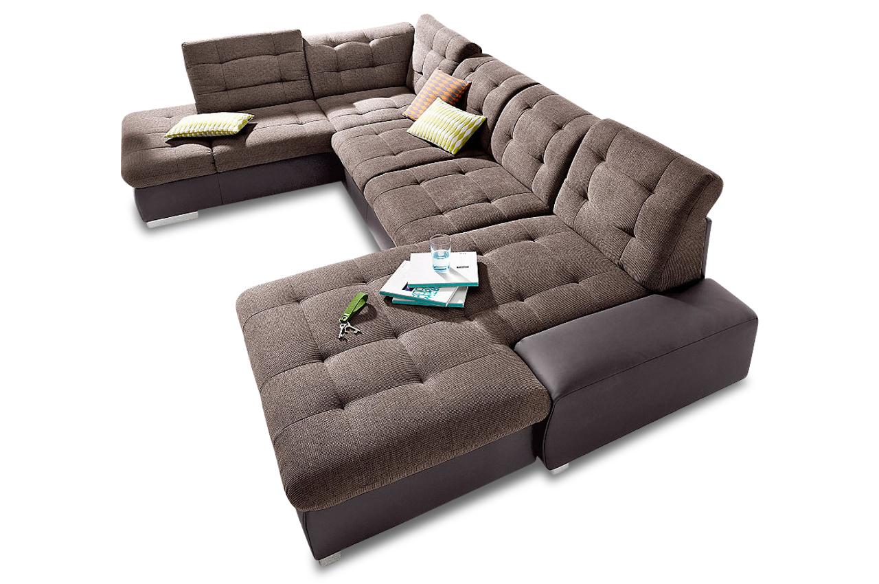 Wohnlandschaft palomino xxl braun sofas zum halben preis for Braune wohnlandschaft