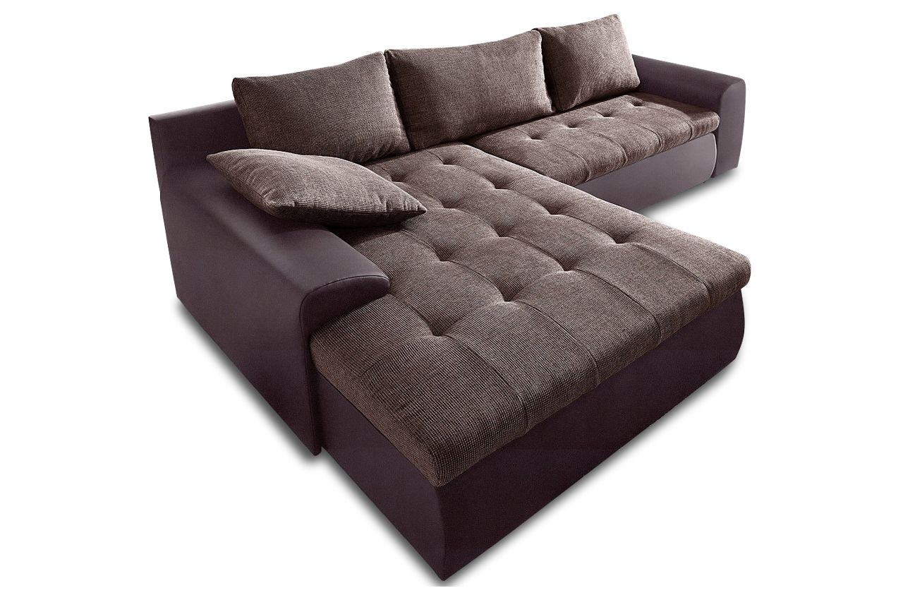ecksofa cecile xxl 2 mit schlaffunktion braun sofa couch ecksofa ebay. Black Bedroom Furniture Sets. Home Design Ideas