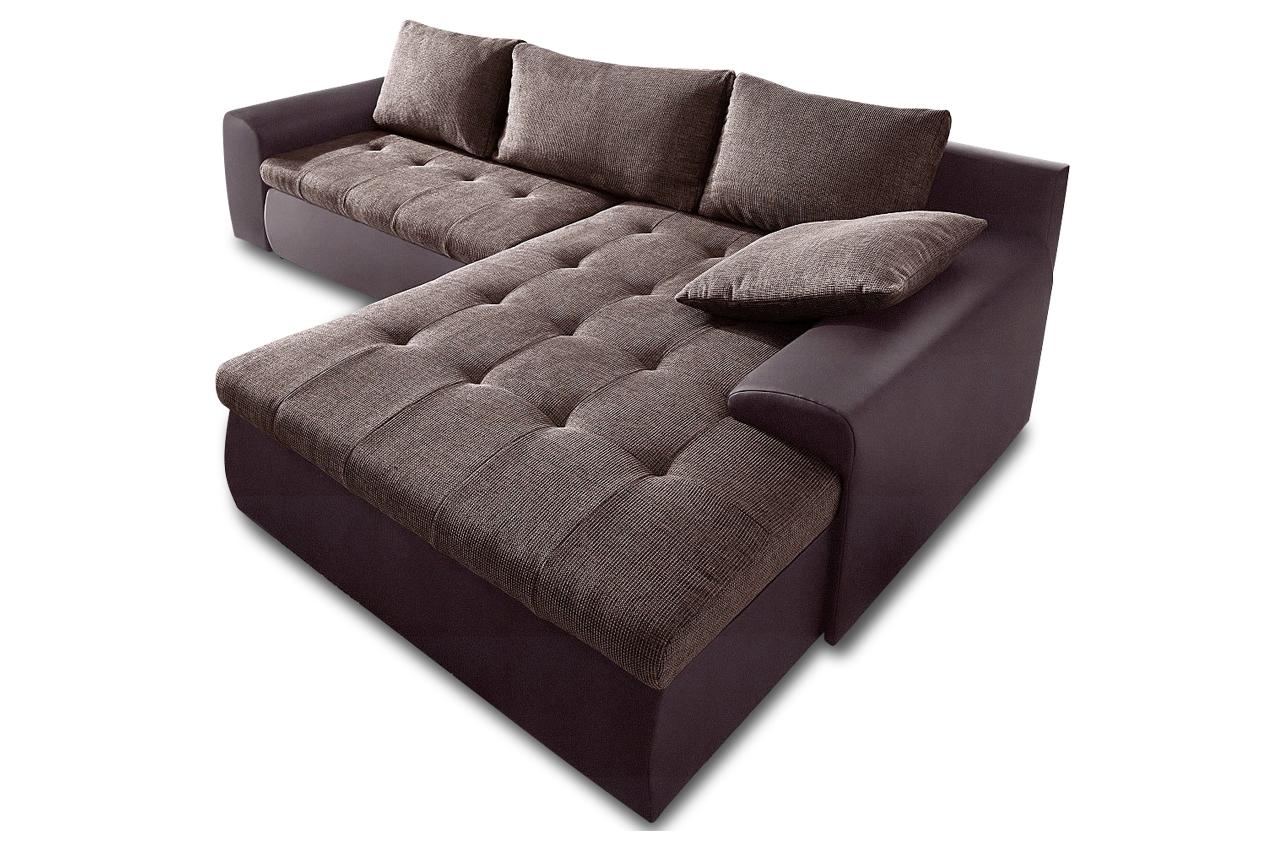 Sit more polsterecke cecile 2 mit bett sofas zum halben for Ecksofa braun mit schlaffunktion