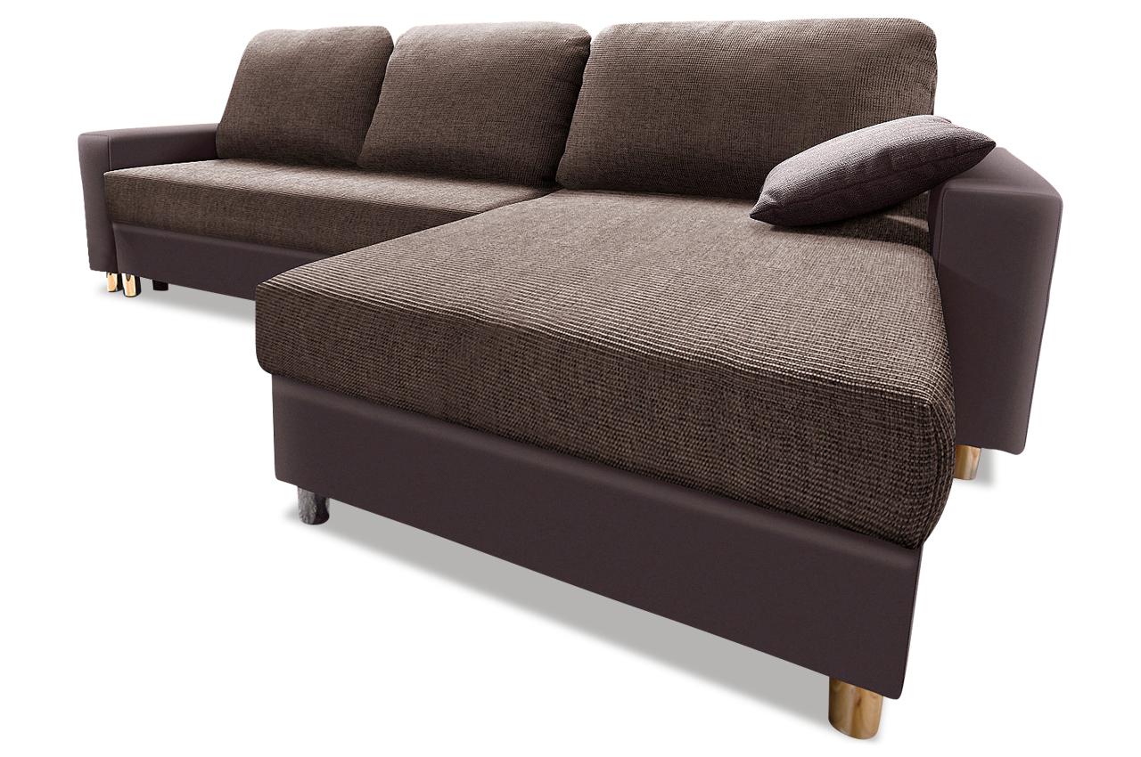 Sit more polsterecke filou mit bett kunstleder sofa for Sofa bett kombination