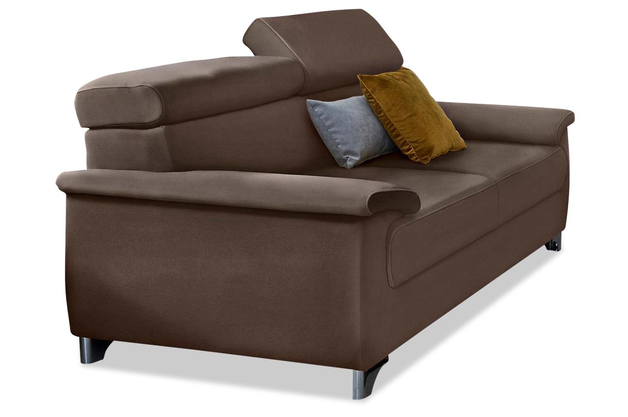 3er sofa niria braun sofas zum halben preis. Black Bedroom Furniture Sets. Home Design Ideas