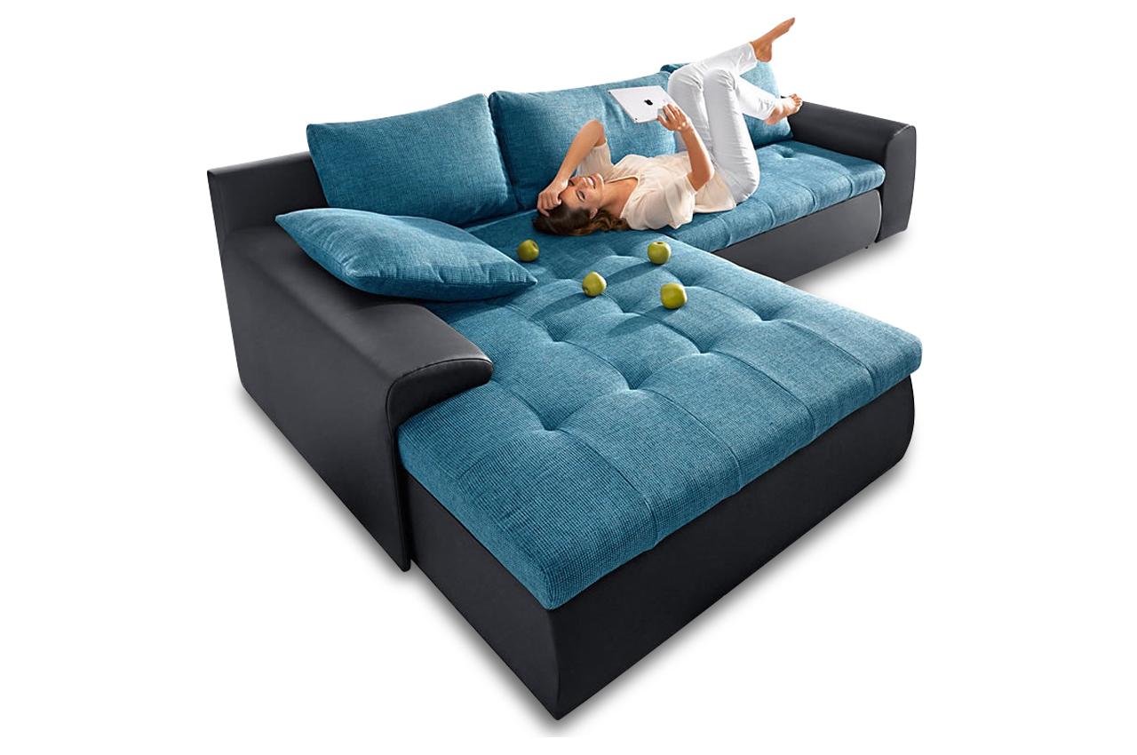 sit more polsterecke cecile 2 xxl mit bett sofas zum. Black Bedroom Furniture Sets. Home Design Ideas