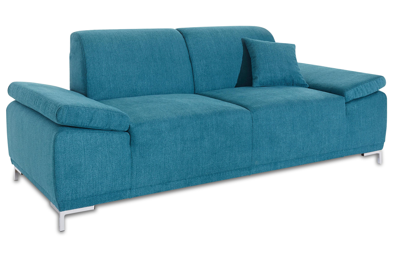 3er sofa saba blau mit boxspring sofas zum halben preis. Black Bedroom Furniture Sets. Home Design Ideas