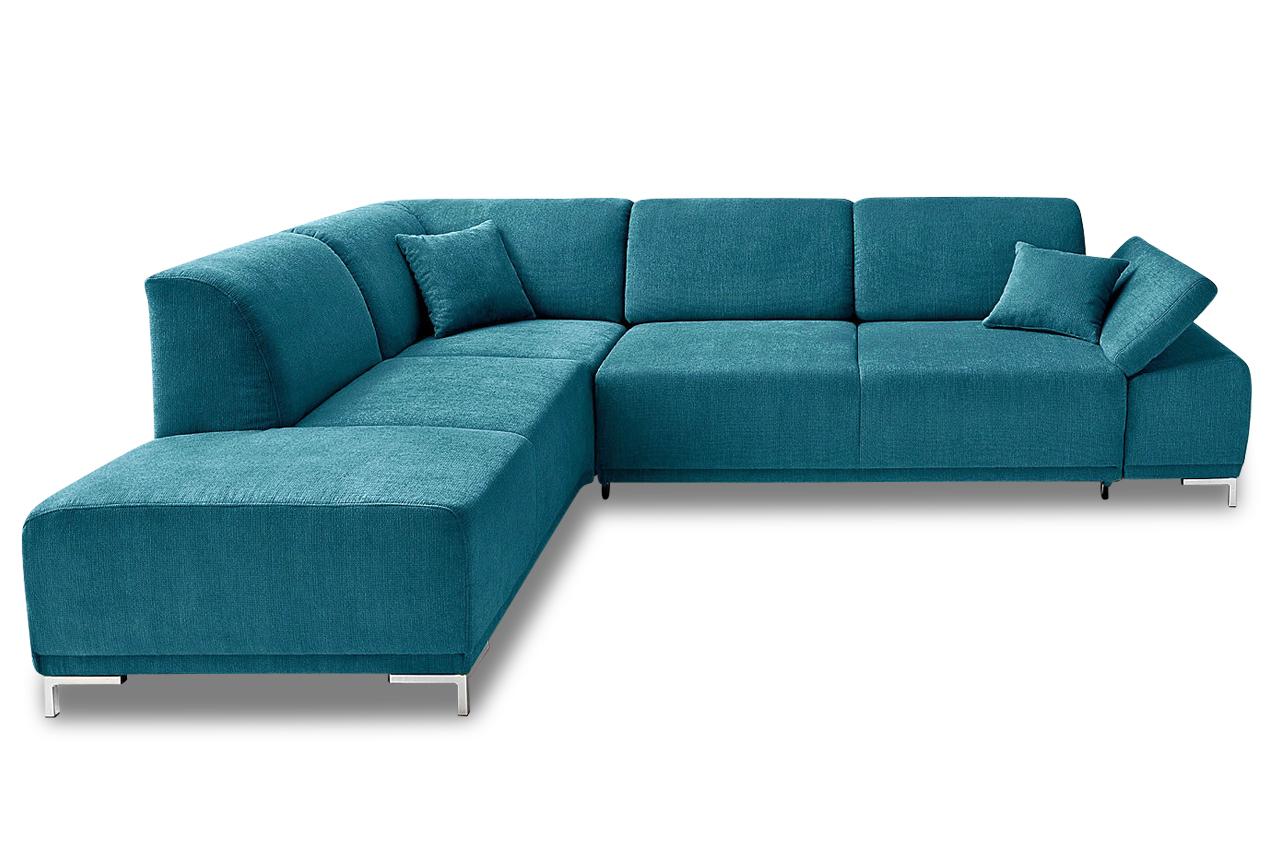 ecksofa xl saba mit sitzverstellung blau mit federkern sofas zum halben preis. Black Bedroom Furniture Sets. Home Design Ideas