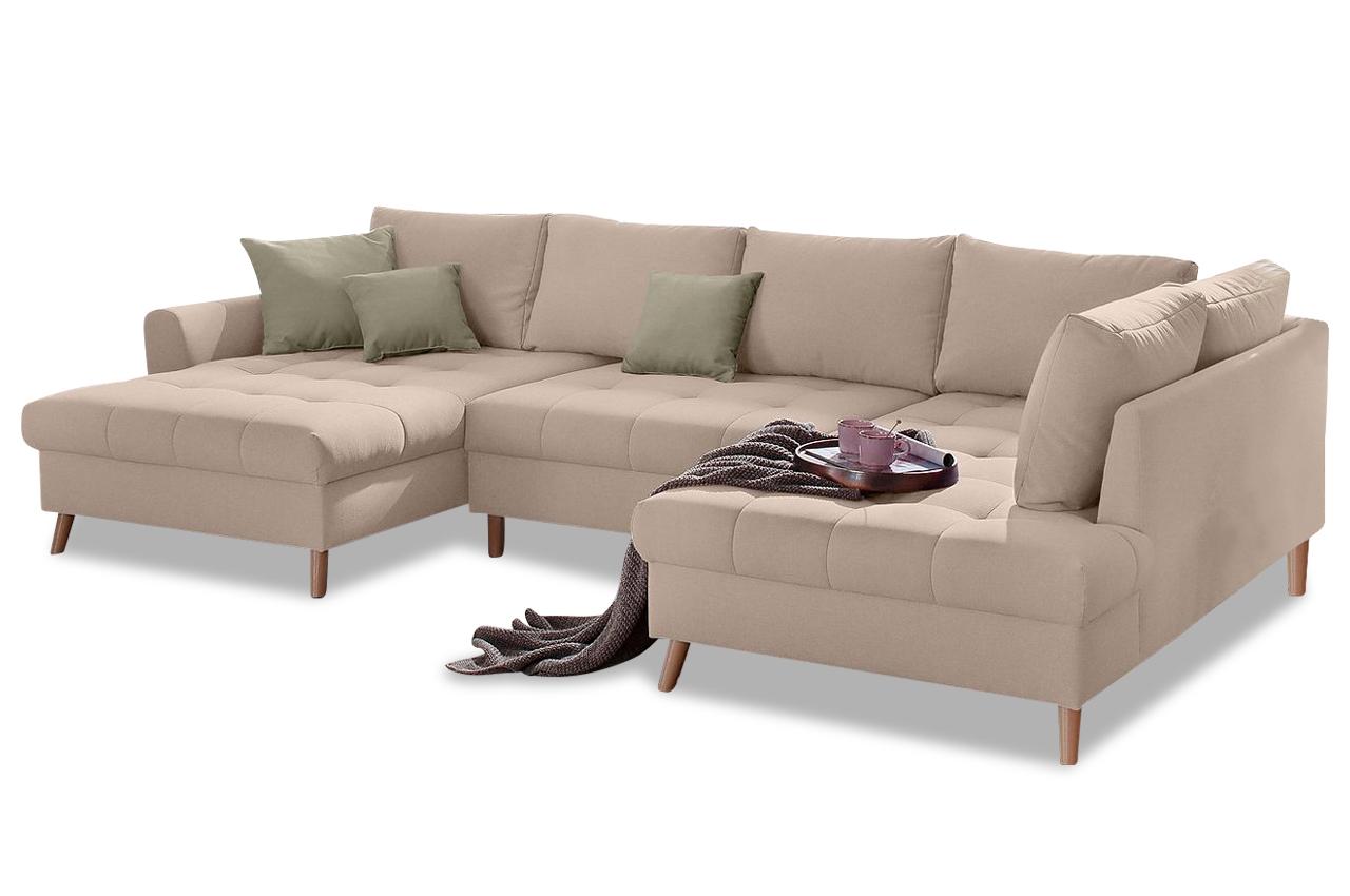 Wohnlandschaft fan braun sofas zum halben preis for Wohnlandschaft braun