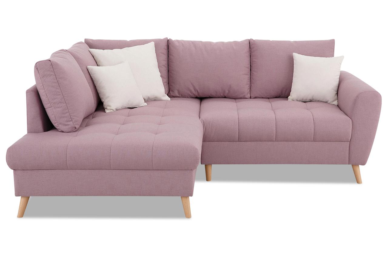 nova via ecksofa xl fan pink sofa couch ecksofa ebay. Black Bedroom Furniture Sets. Home Design Ideas