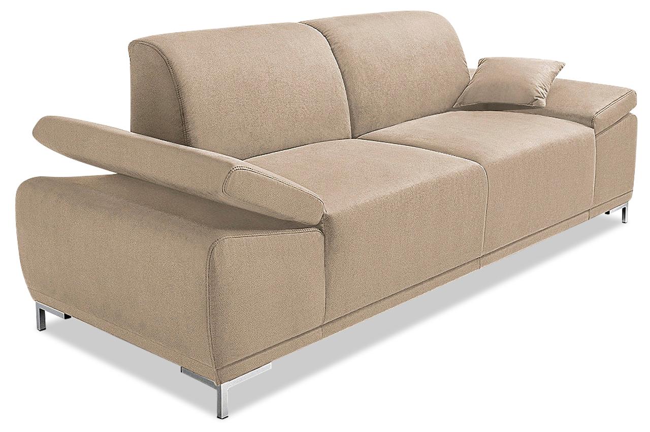 3er sofa saba creme mit boxspring sofas zum halben preis. Black Bedroom Furniture Sets. Home Design Ideas