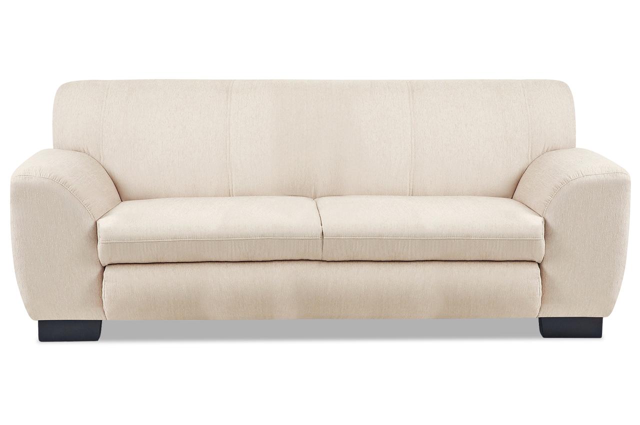 3er sofa nika creme sofas zum halben preis. Black Bedroom Furniture Sets. Home Design Ideas