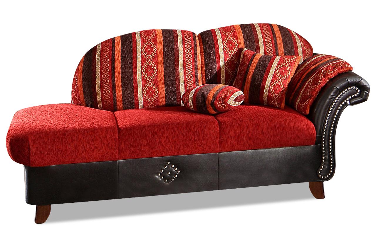 sit more recamiere columbo orange mit federkern sofa couch ecksofa ebay. Black Bedroom Furniture Sets. Home Design Ideas