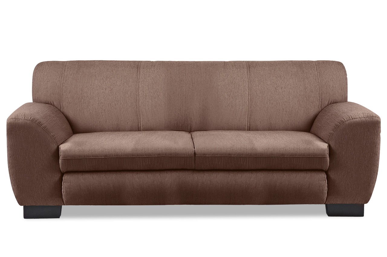 3er sofa nika braun sofas zum halben preis. Black Bedroom Furniture Sets. Home Design Ideas