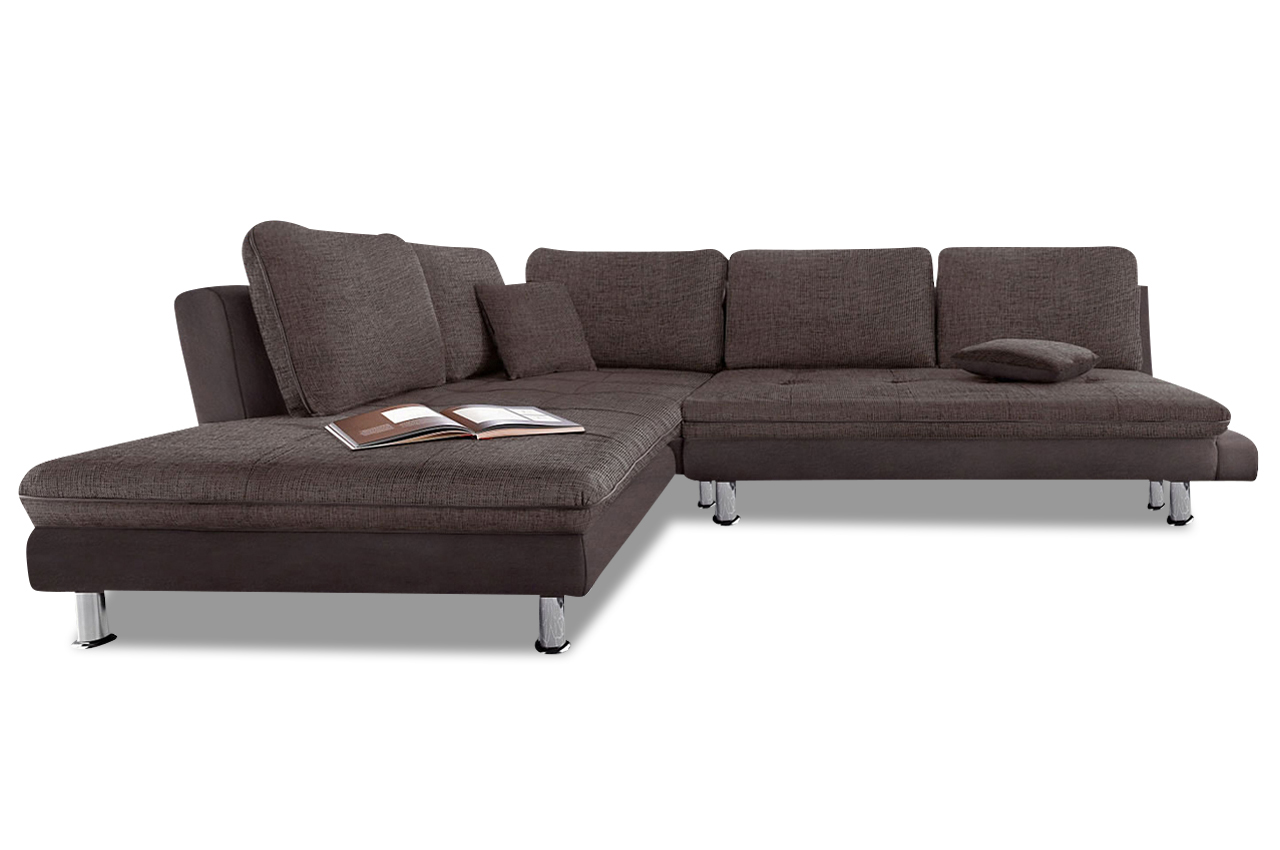 sit more ecksofa xl lounge braun sofas zum halben preis. Black Bedroom Furniture Sets. Home Design Ideas
