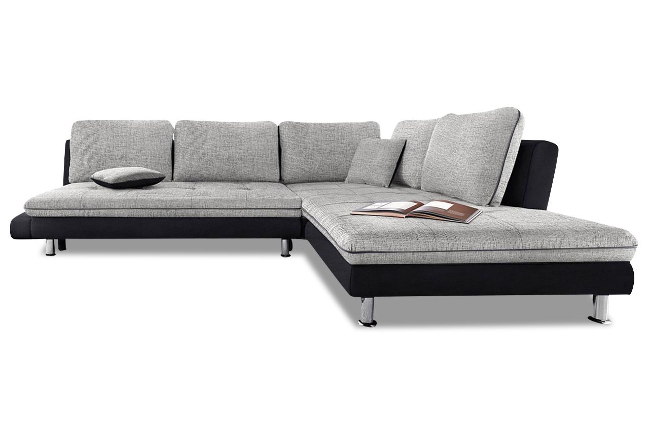 sit more ecksofa xl lounge grau stoff sofa couch ebay. Black Bedroom Furniture Sets. Home Design Ideas