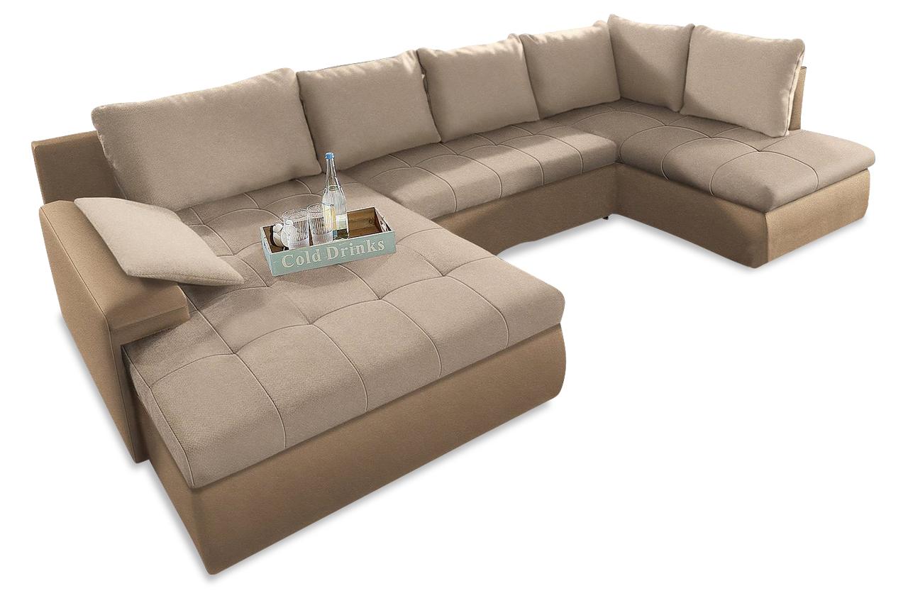 wohnlandschaft mit schlaffunktion braun sofas zum. Black Bedroom Furniture Sets. Home Design Ideas