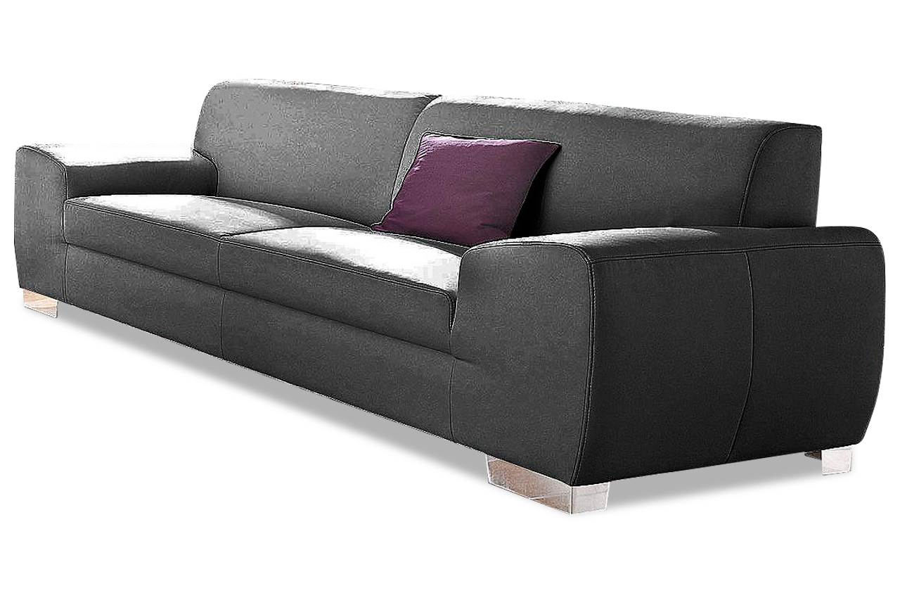 3er sofa ricardo schwarz sofas zum halben preis. Black Bedroom Furniture Sets. Home Design Ideas