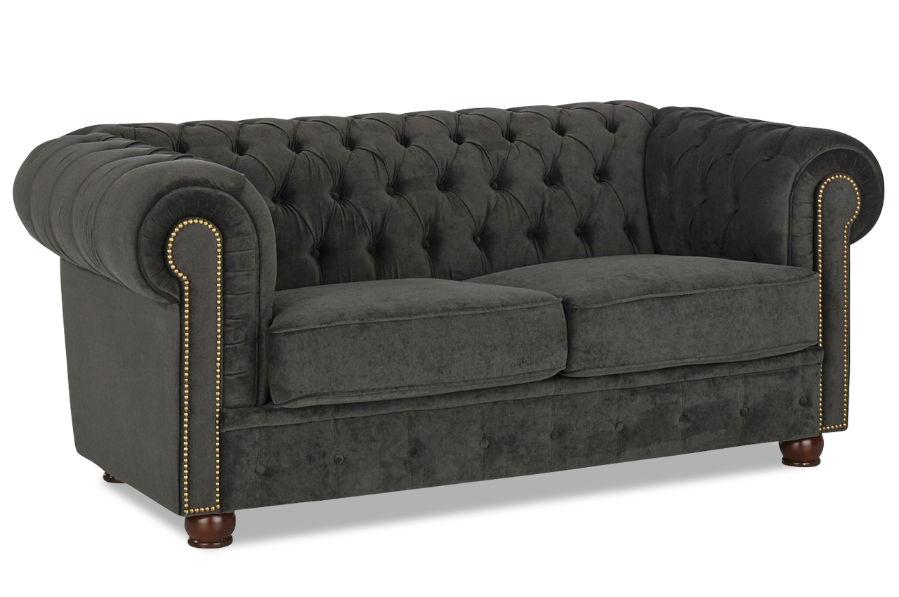 max winzer chesterfield 2er sofa rover stoff sofa couch ecksofa ebay. Black Bedroom Furniture Sets. Home Design Ideas
